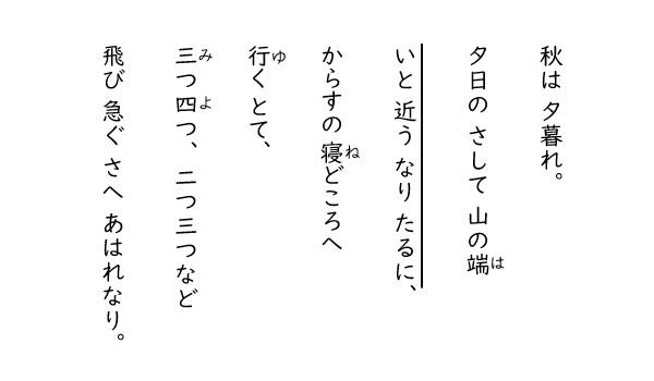 現代 仮名遣い 枕草子 古文・和歌